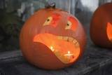 Funny Pumpkin Face Lantern Photographic Print by Joanna Jackson