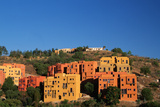 Apartment Houses Stacked on Hillside Photographic Print by Danny Lehman