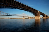 Eads Bridge on the Mississippi River, St. Louis, Missouri Photographic Print by Joseph Sohm