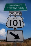 Freeway Entrance Sign to US Route 101 South, Pacific Coast Highway Photographic Print by Joseph Sohm