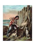 The Life and Adventures of Robinson Crusoe by Defoe Giclee Print