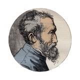 Profile Engraving of Michelangelo Buonarroti Italian Sculptor Giclee Print by Stefano Bianchetti