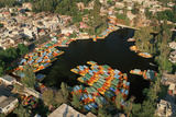 Aerial of Xochimilco Floating Gardens Photographic Print by Danny Lehman