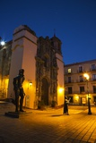 Night Lighting of the City of Guanajuato and the Statues of the Main Jardin Photographic Print by Terry Eggers