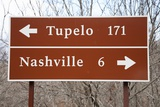 Signs to Tupelo and Nashville Photographic Print by Joseph Sohm