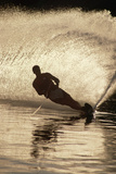 Water Skier Splashing on a Turn Photographic Print by Rick Doyle