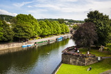 Canal Boats on the River Avon, Bath, Avon and Somerset, England, United Kingdom, Europe Photographic Print by Matthew Williams-Ellis