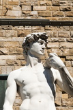 David by Michelangelo Dating from the 16th Century, Piazza Della Signoria, Florence (Firenze) Photographic Print by Nico Tondini