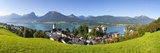 Elevated View over Parish Church and St. Wolfgang, Wolfgangsee Lake, Flachgau Photographic Print by Doug Pearson