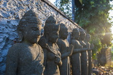 Late Afternoon Light on Stone Statues in the Pura Besakih Temple Complex, Bali, Indonesia Photographic Print by Michael Runkel