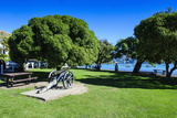 Old Cannon in a Park in Akaroa, Banks Peninsula, Canterbury, South Island, New Zealand, Pacific Photographic Print by Michael Runkel