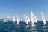Sailboats Participating in Regatta, Ibiza, Balearic Islands, Spain, Mediterranean, Europe Photographic Print by Emanuele Ciccomartino