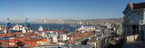 View of City and Ports from Paseo 21 De Mayo, Cerro Playa Ancha, Valparaiso Fotografisk tryk af Ben Pipe