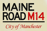 Maine Road M14 Manchester Road Sign Poster Prints