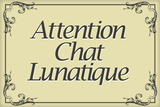 Attention Chat Lunatique French Crazy Cat Sign Poster Prints