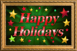 Happy Holidays Faux Framed Poster Prints