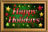 Happy Holidays Faux Framed Poster Láminas