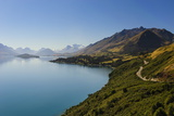 Turquoise Water of Lake Wakaipu, around Queenstown, South Island, New Zealand Photographic Print by Michael Runkel