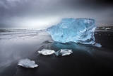 Jokulsa Beach on a Stormy Day Photographic Print by Lee Frost