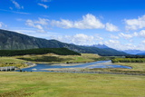 Waiau River and the Southern Alps Along the Road from Invercargill to Te Anau Photographic Print by Michael Runkel
