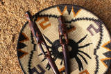 Embera Wood Carvings and Basket Photographic Print by Danny Lehman