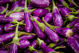 Baby Eggplants Fresh Produce Photo Poster Print Art