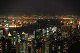 Hong Kong at Night Photographic Print by Macduff Everton