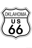 Oklahoma Route 66 Sign Art Poster Print Prints