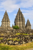The Prambanan Temple Complex, UNESCO World Heritage Site, Java, Indonesia, Southeast Asia, Asia Photographic Print by Michael Runkel
