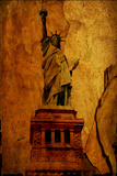 Paper Statue Of Liberty Plastic Sign