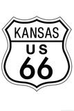 Kansas Route 66 Sign Art Poster Print Poster