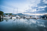 Sailing Harbour of Apia at Sunset, Upolu, Samoa, South Pacific, Pacific Photographic Print by Michael Runkel