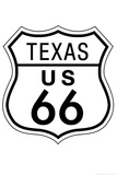 Texas Route 66 Sign Art Poster Print Prints