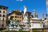 Fountain of Neptune (Biancone), Florence (Firenze), Tuscany, Italy, Europe Photographic Print by Nico Tondini