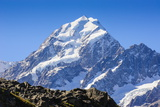 Mount Cook, the Highest Mountain in New Zealand, South Island, New Zealand, Pacific Fotografisk trykk av Michael Runkel