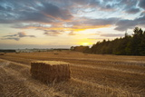 Hay Bale at Sunset, Broadway, the Cotswolds, Gloucestershire, England, United Kingdom, Europe Photographic Print by Matthew Williams-Ellis