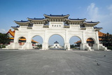 Huge Gate in Front of the Chiang Kai-Shek Memorial Hall, Taipei, Taiwan, Asia Photographic Print by Michael Runkel