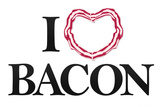 I Heart Love Bacon Poster Posters