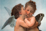 William Bouguereau Le Premier Baiser The First Kiss Art Print Poster Print