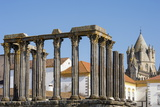 Roman Temple of Diana in Front of the Santa Maria Cathedral, Evora, Alentejo, Portugal, Europe Photographic Print by G&M Therin-Weise