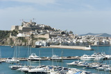 Cranes at Ibiza Castle and View of the Boats, Ibiza Port, Dalt Vila Photographic Print by Emanuele Ciccomartino