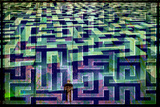 Maze 2 Plastic Sign