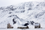 Remote Church and Farm Buildings in Snow-Covered Winter Landscape, Snaefellsness Peninsula, Iceland Photographic Print by Lee Frost