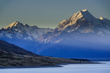 Lake Pukaki with Mount Cook in the Background in Late Afternoon Light Photographic Print by Michael Runkel