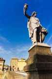 Statue of Autumn, Ponte Santa Trinita, Florence (Firenze), Tuscany, Italy, Europe Photographic Print by Nico Tondini