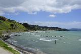 The Coastline of Northern Coromandel, North Island, New Zealand, Pacific Photographic Print by Michael Runkel