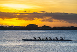 Evening Rowing in the Bay of Apia, Upolu, Samoa, South Pacific, Pacific Photographic Print by Michael Runkel