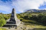 Memorial on the Bottom of Mount Taranaki, North Island, New Zealand, Pacific Photographic Print by Michael Runkel