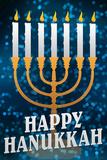 Happy Hanukkah Menorah Holiday Poster Obrazy