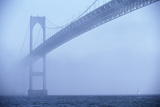 Newport Bridge in Fog Photographic Print by Onne van der Wal
